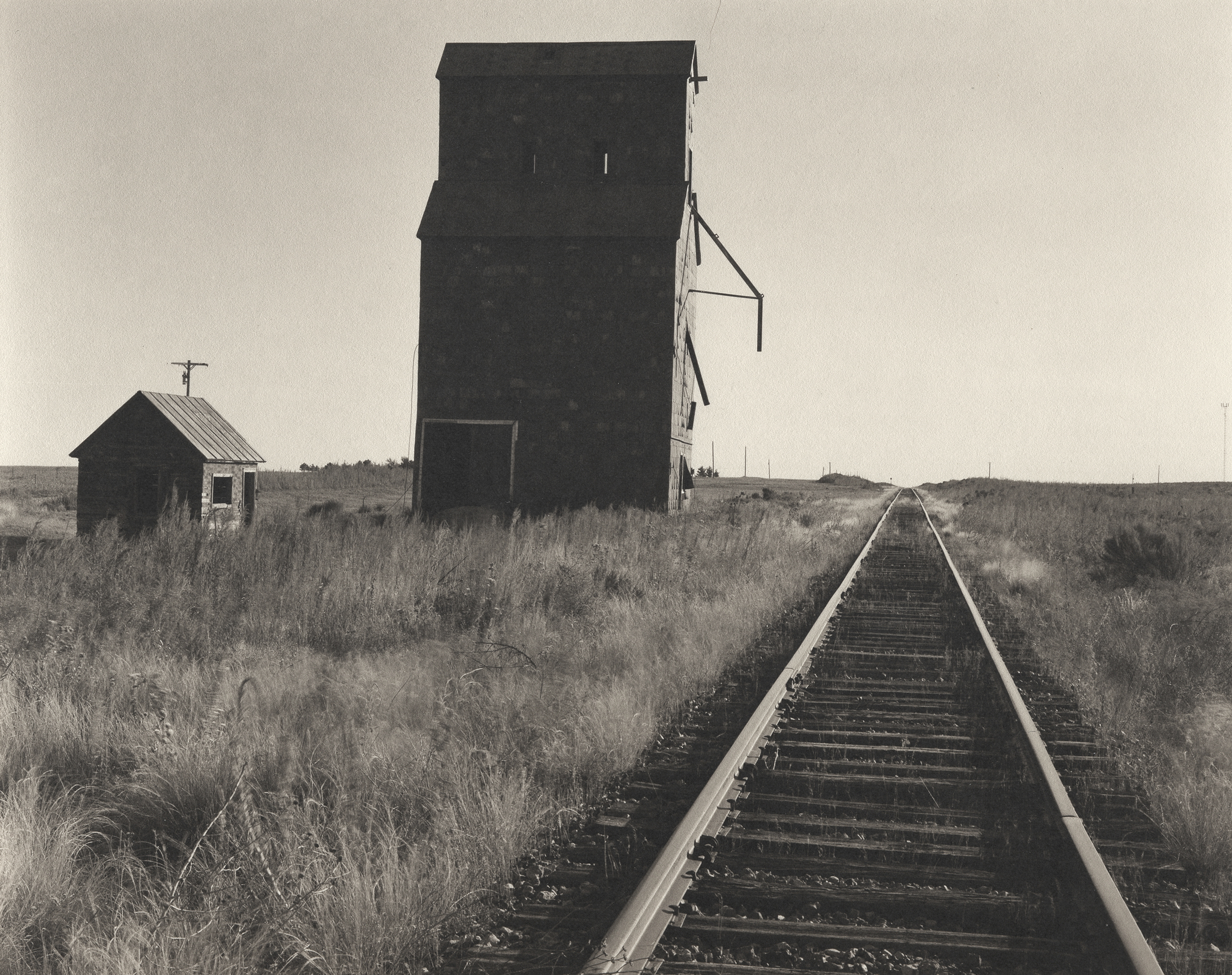 Old Grain Elevator and RR Tracks-Elkhart, KS.jpg