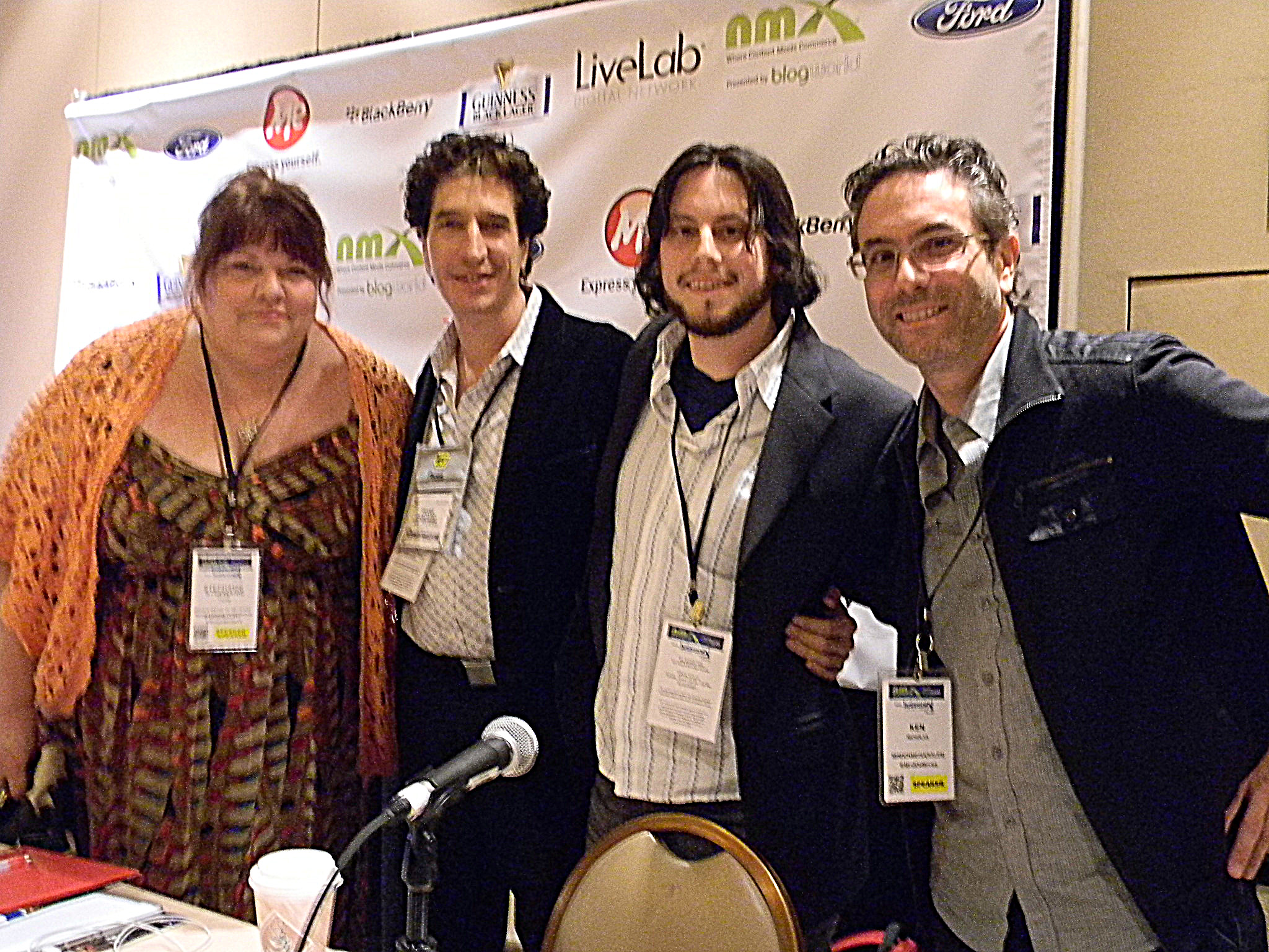 Stephanie Piche, Frank Chindamo, Avi Glijansky and Ken Nicholas at NMX 2013 in Las Vegas, NV