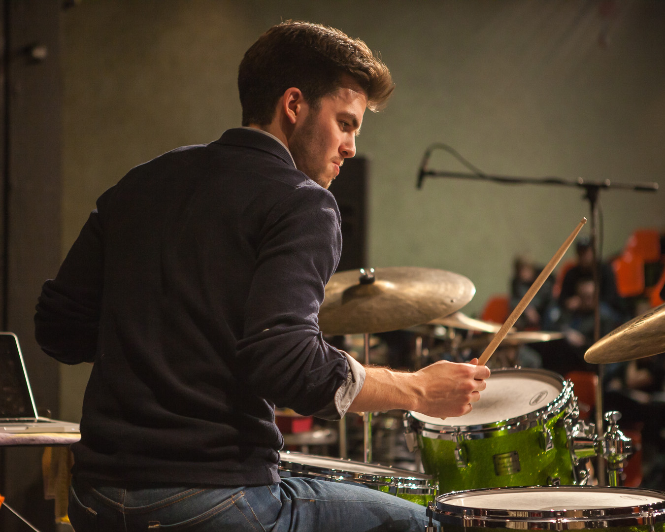 Lucas Sader  performing at the  2014 Winnipeg DrumTalk Festival . Photo credit:  Matt Duboff .