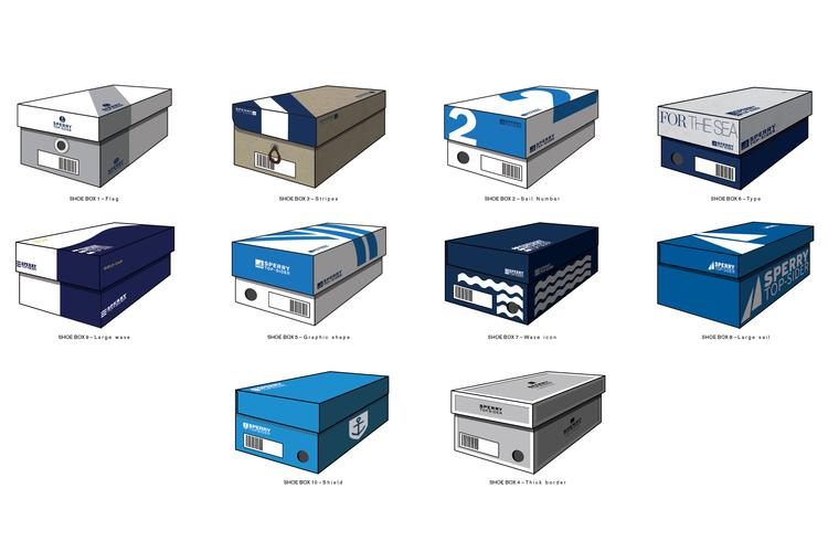 Proposed shoebox packaging