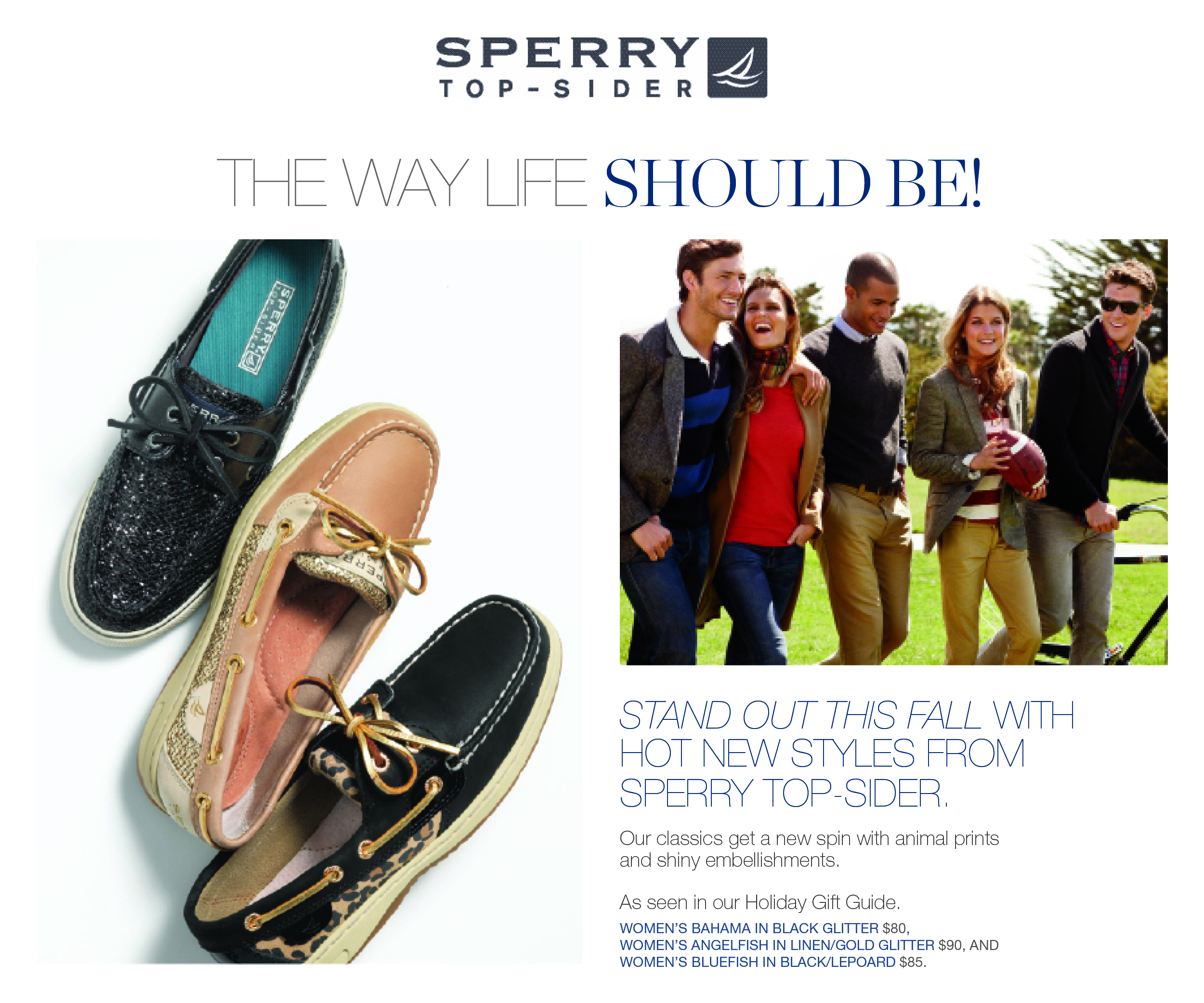 DIGITAL — Creative direction, shoot art direction and layout for sperrytopsider.com and wholesaleaccount e-blasts.