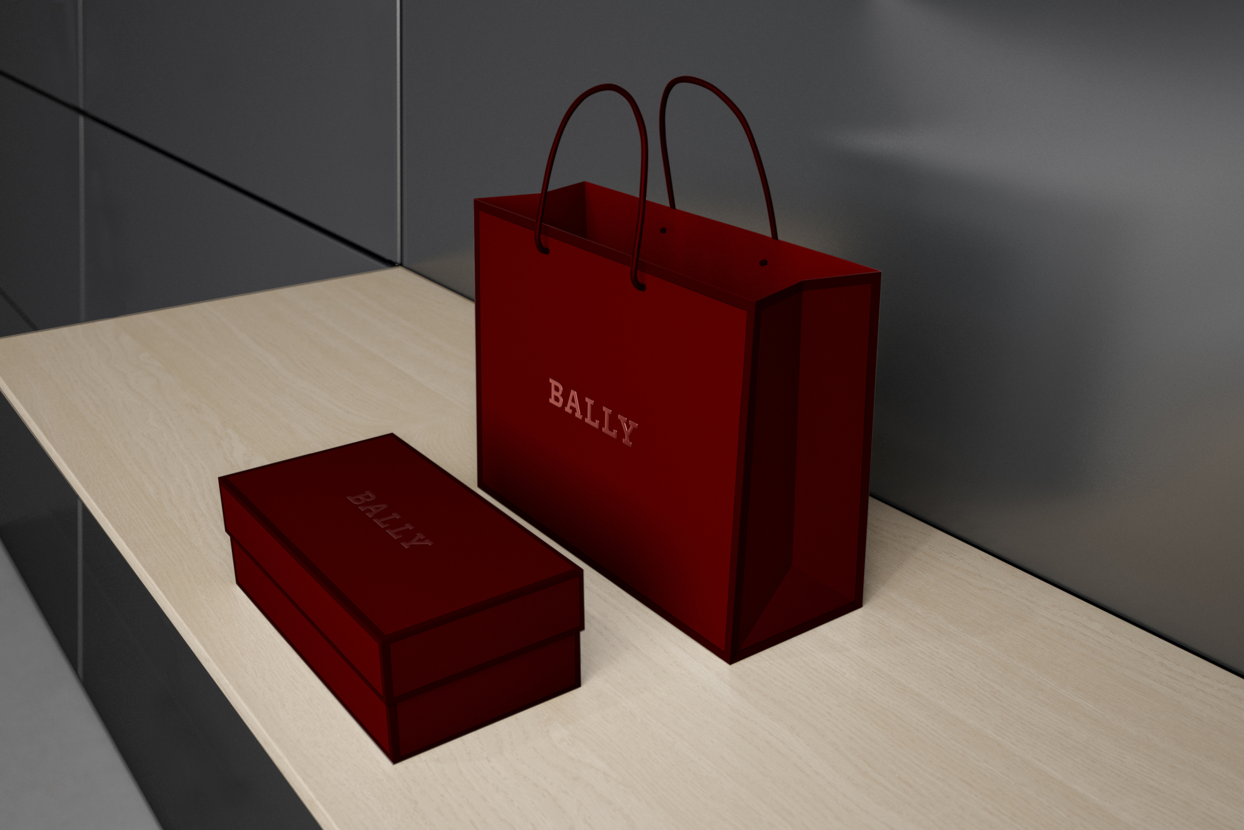New Bally shopping bag and shoebox