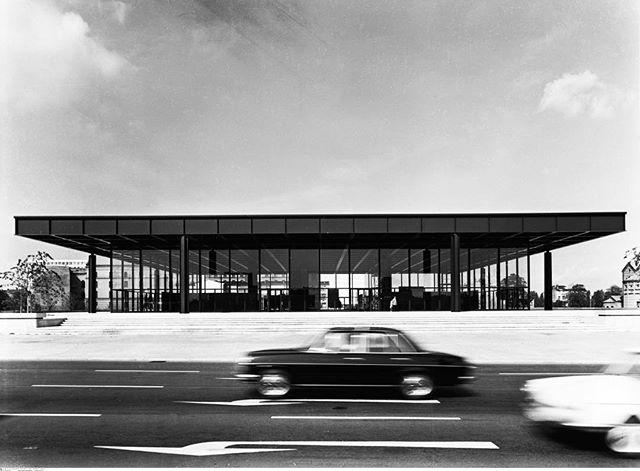 Mies van der Rohe's Neue Nationalgalerie in Berlin #miesvanderrohe