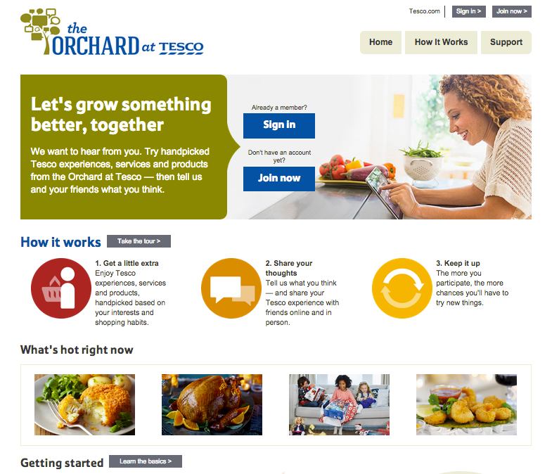 Desktop view of Homepage