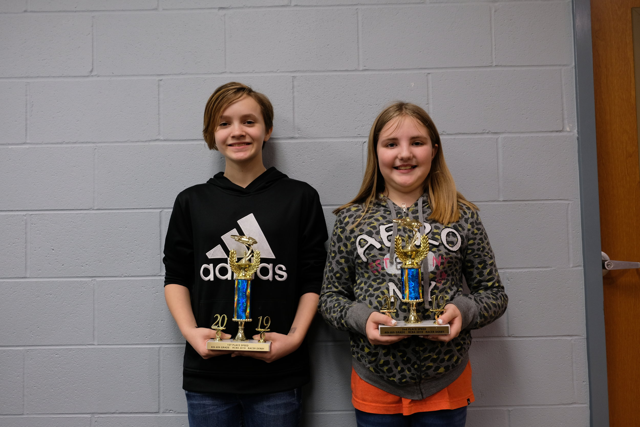 Derby Winners 4th - 6th Grades Kenya Franklin, Oakland and Savannah Jones, Oakland