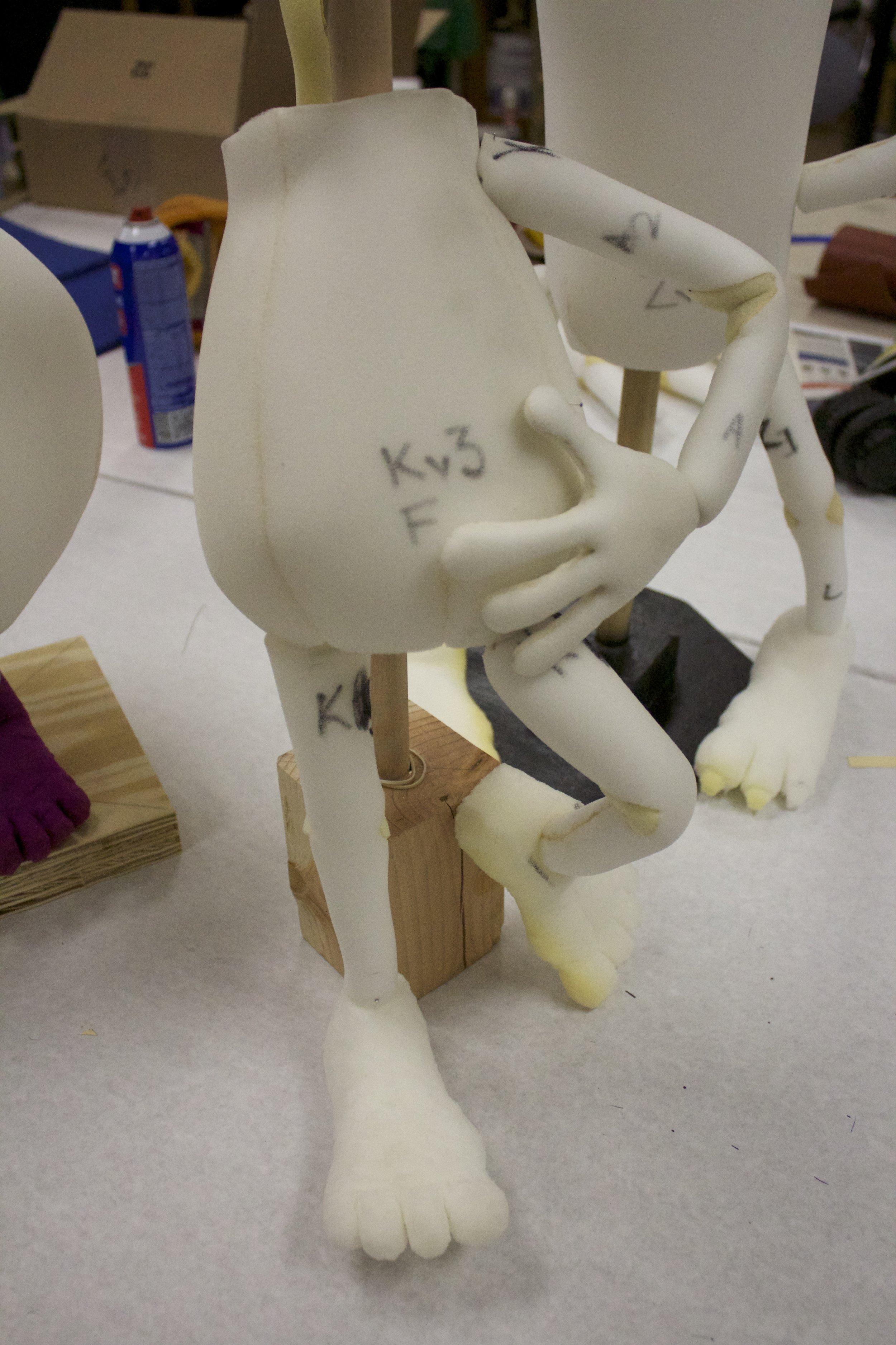 Mock Up Foam Puppet