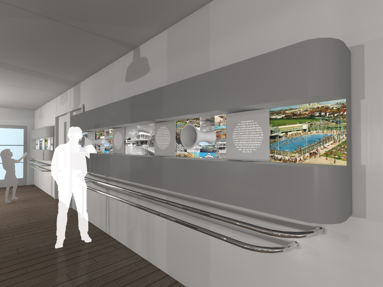 The restored lido building will feature interactive heritage interpretation panels, so that future generations can learn about: the lido movement, modernist architecture in the UK, and Saltdean's role in the heyday of the seaside holiday.