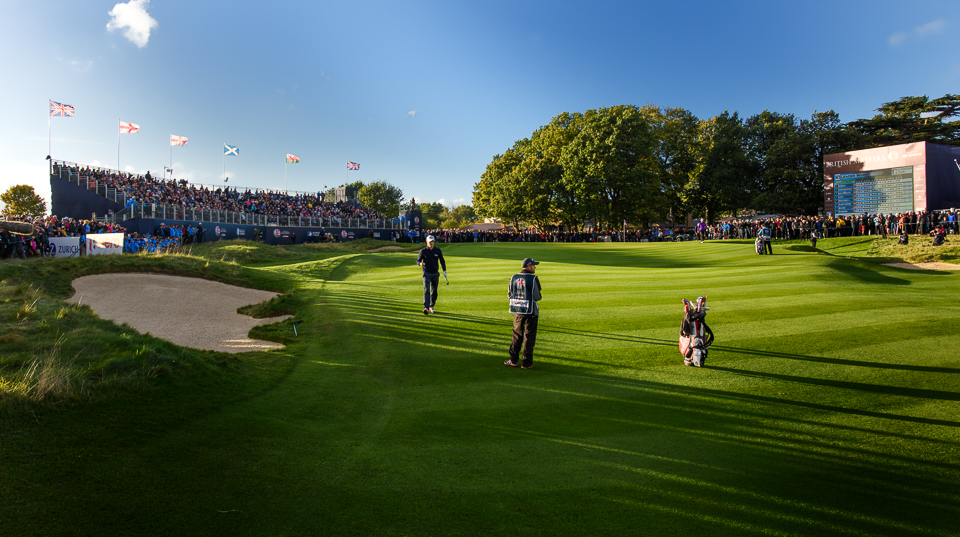 Noren about to pitch it stiff for the win, my favourite golf course photograph of the day