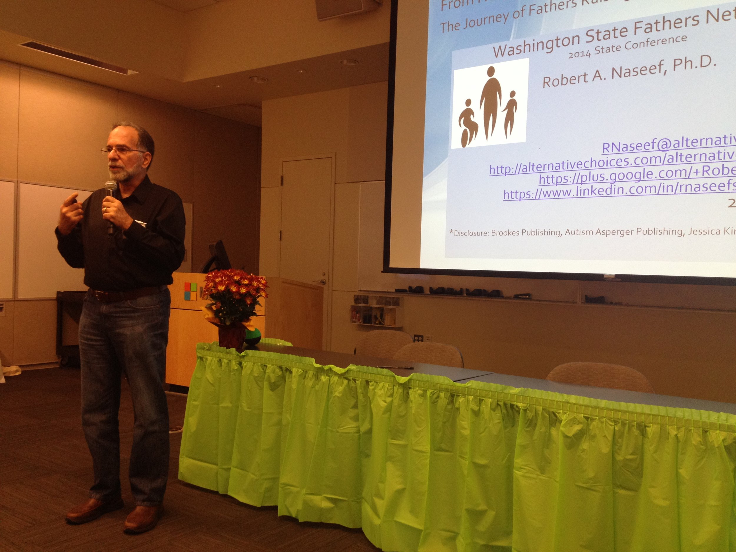 2014, Washington State Fathers Network keynote.