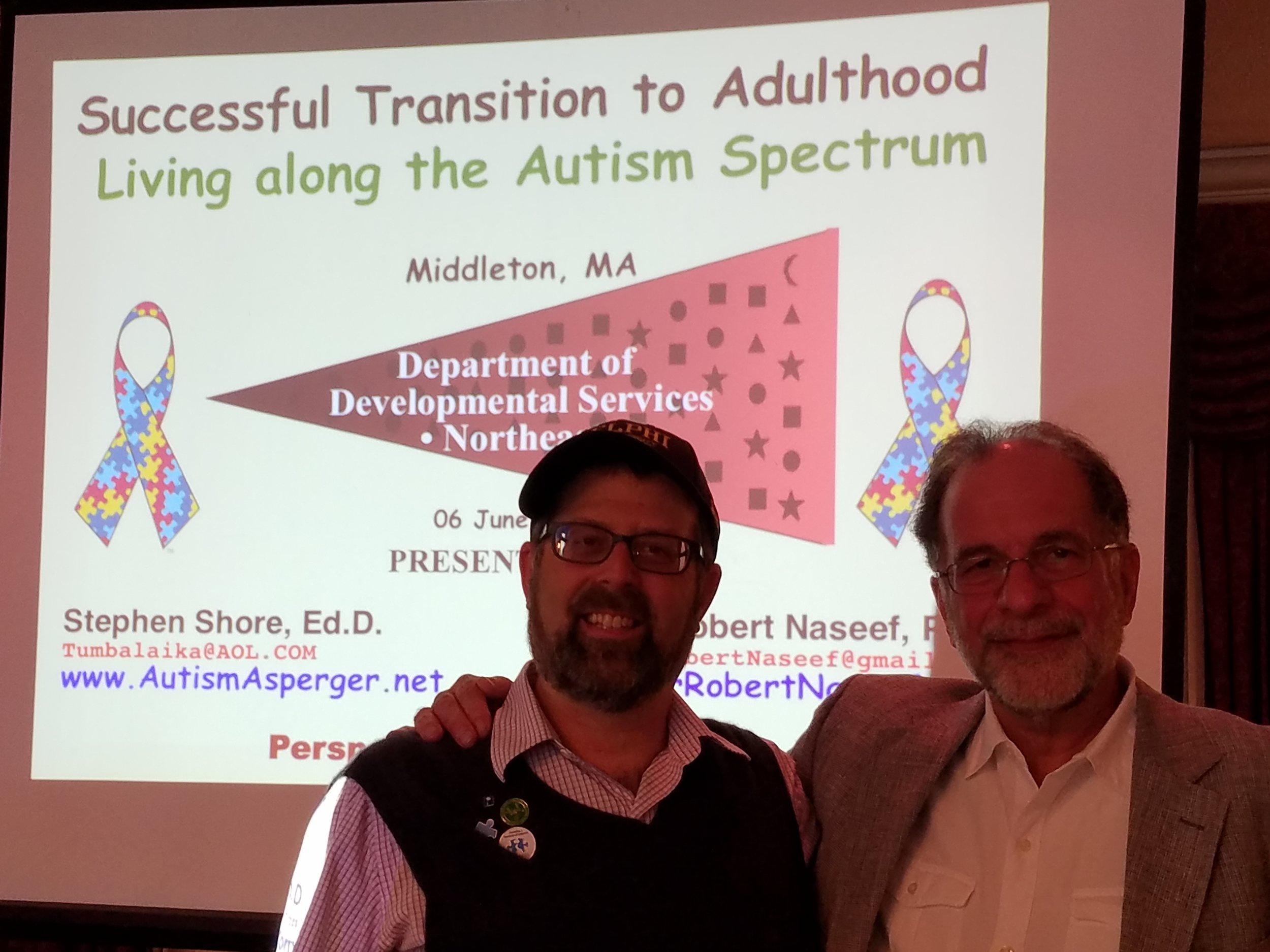 2013, Living Along the Autism Spectrum co-presentation with Stephen Shore.