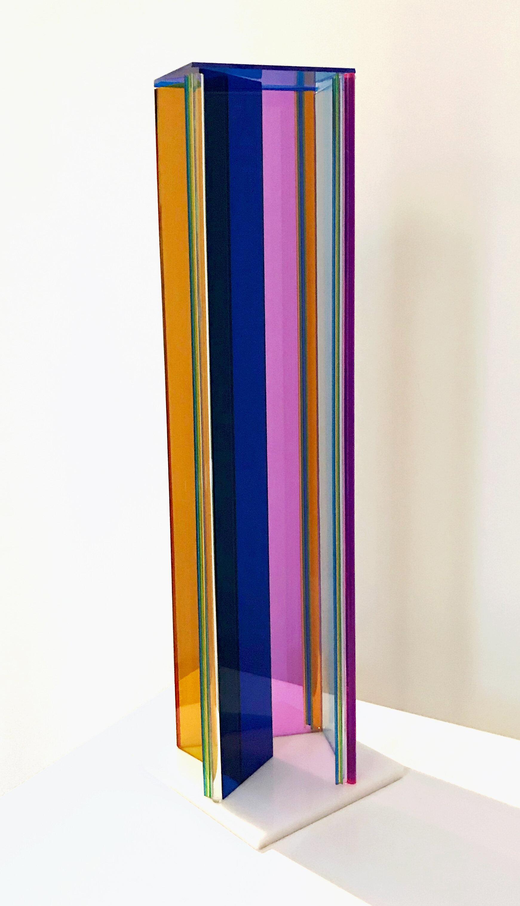 Neva Delihas Setlow-Small Column -5%22X5%22X18%22 Plexiglas Scupture.jpg