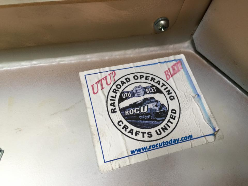 Many railroaders heard about ROCU for the first time when they found a sticker in an engine cab.
