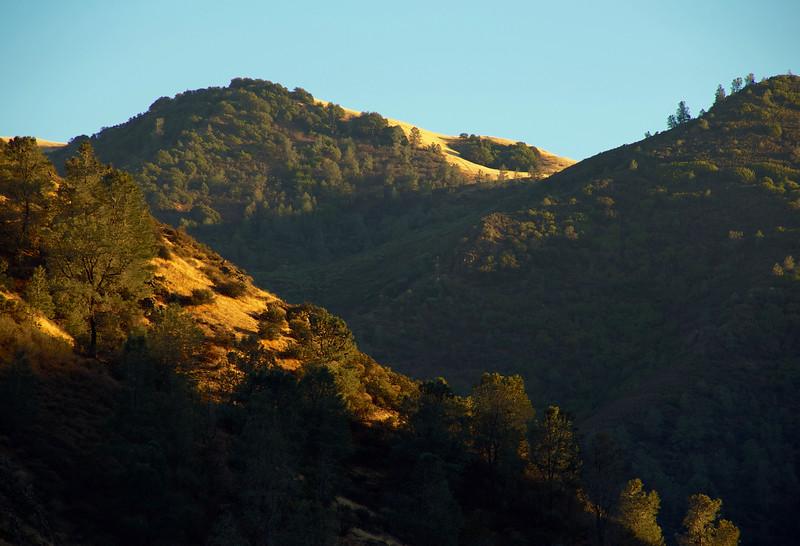 Setting sun on Mitchell Rock