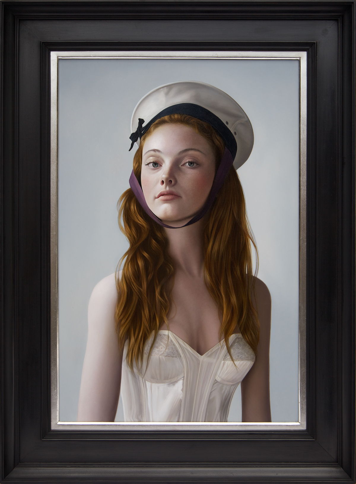 G irl Ashore  - Oil on Panel -20 x 13 1/2 inches