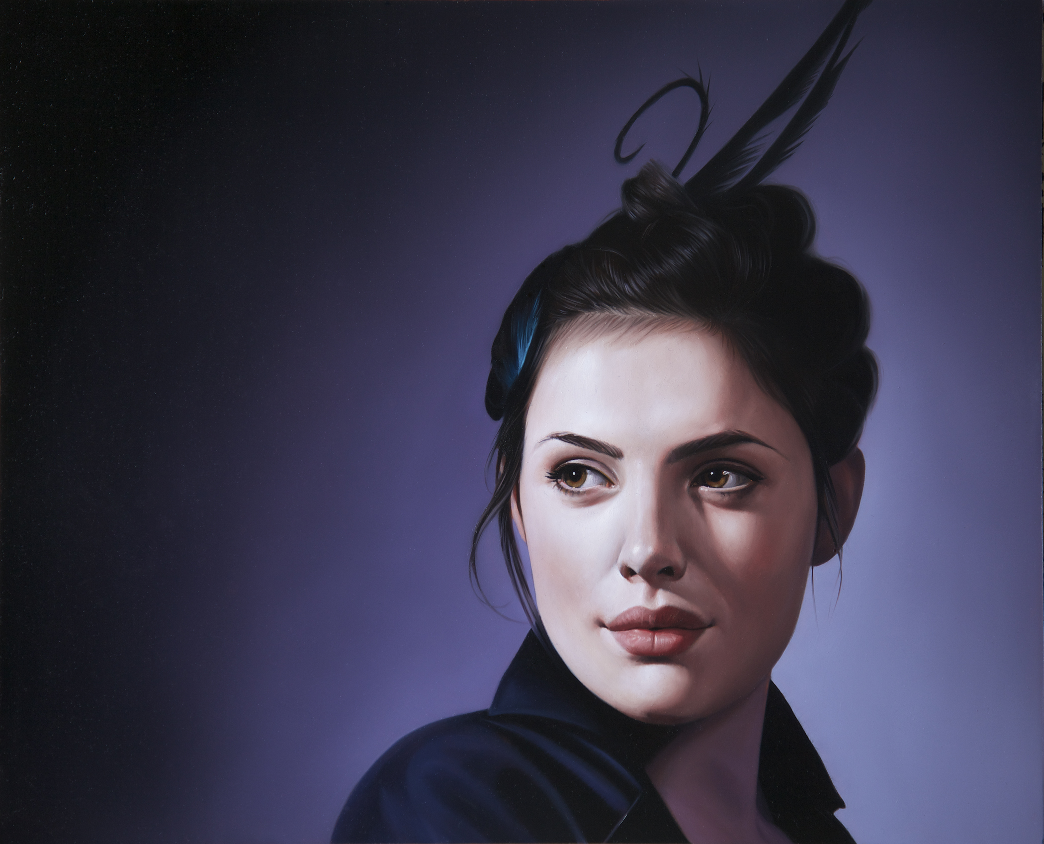 Belle De Nuit I   11 x 14 inches,   Oil on aluminium panel
