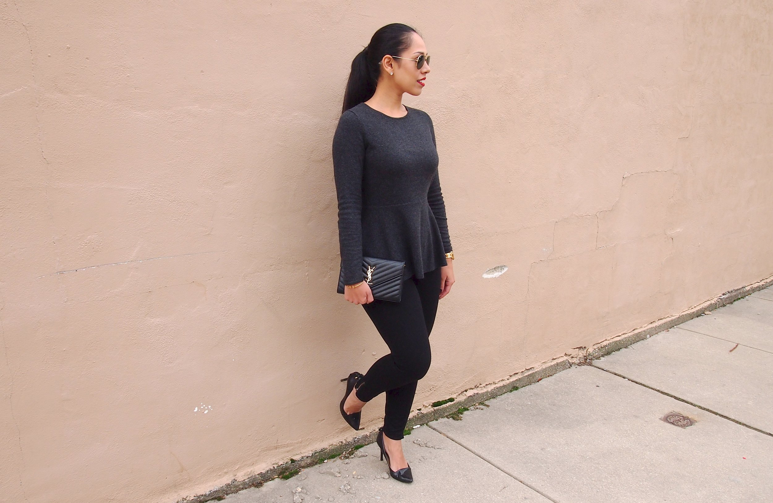 Gray-Peplum-Sweater