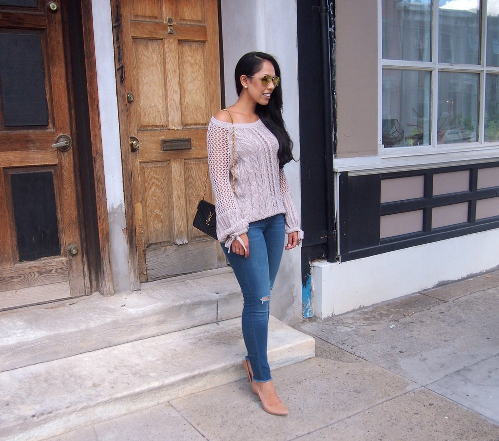 1a786c26f18 How to Dress Up a Cozy Knit Sweater — My Golden Beauty