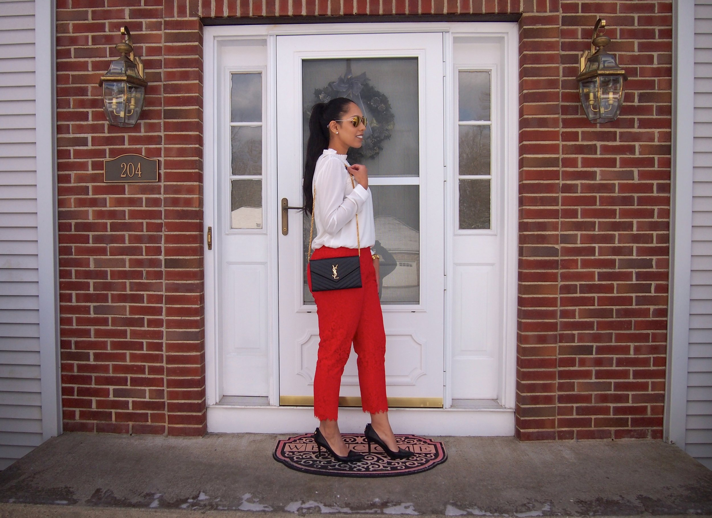 how-to-style-red-lace-pants