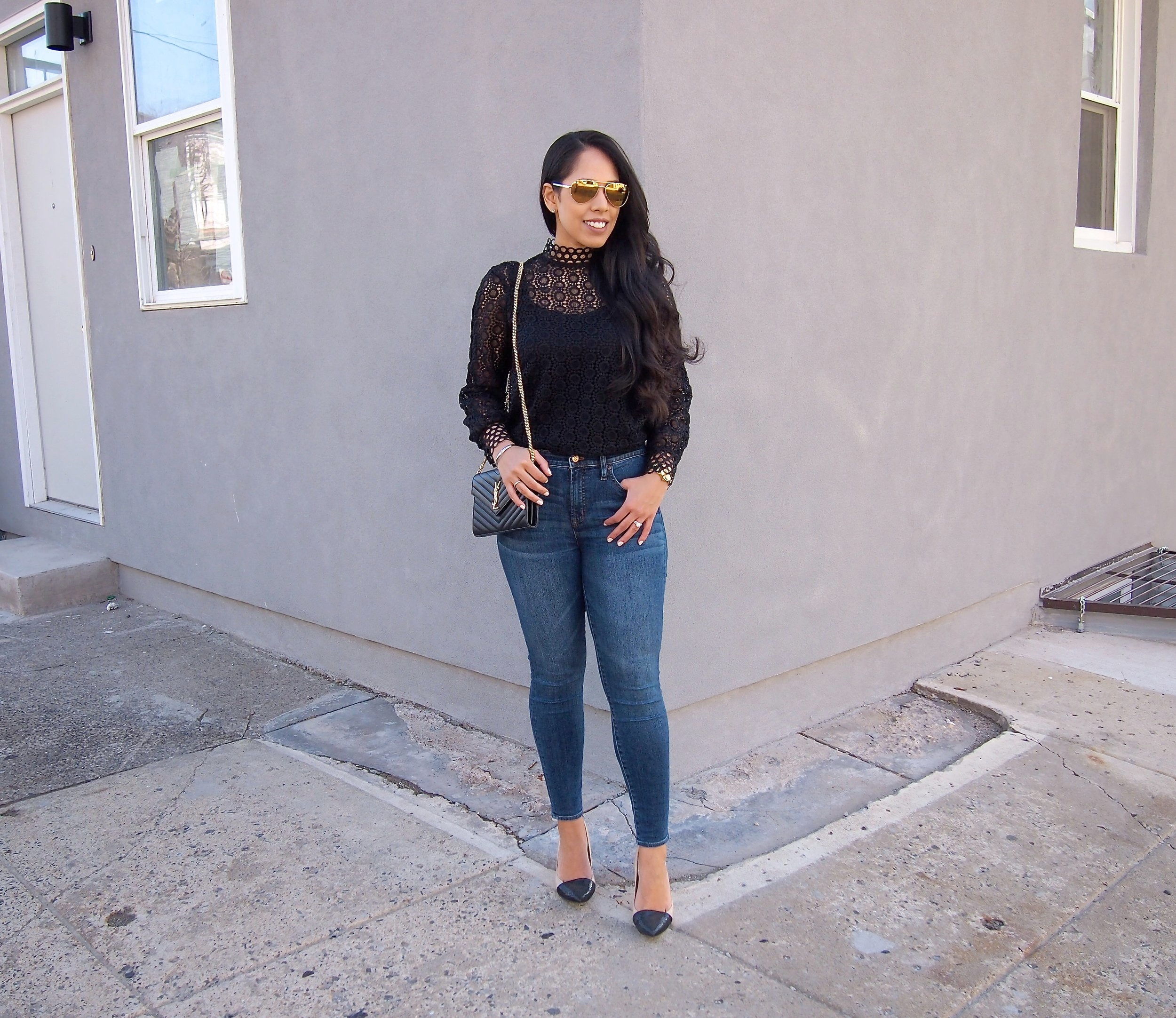 black-lace-blouse-and-highrise-jeans