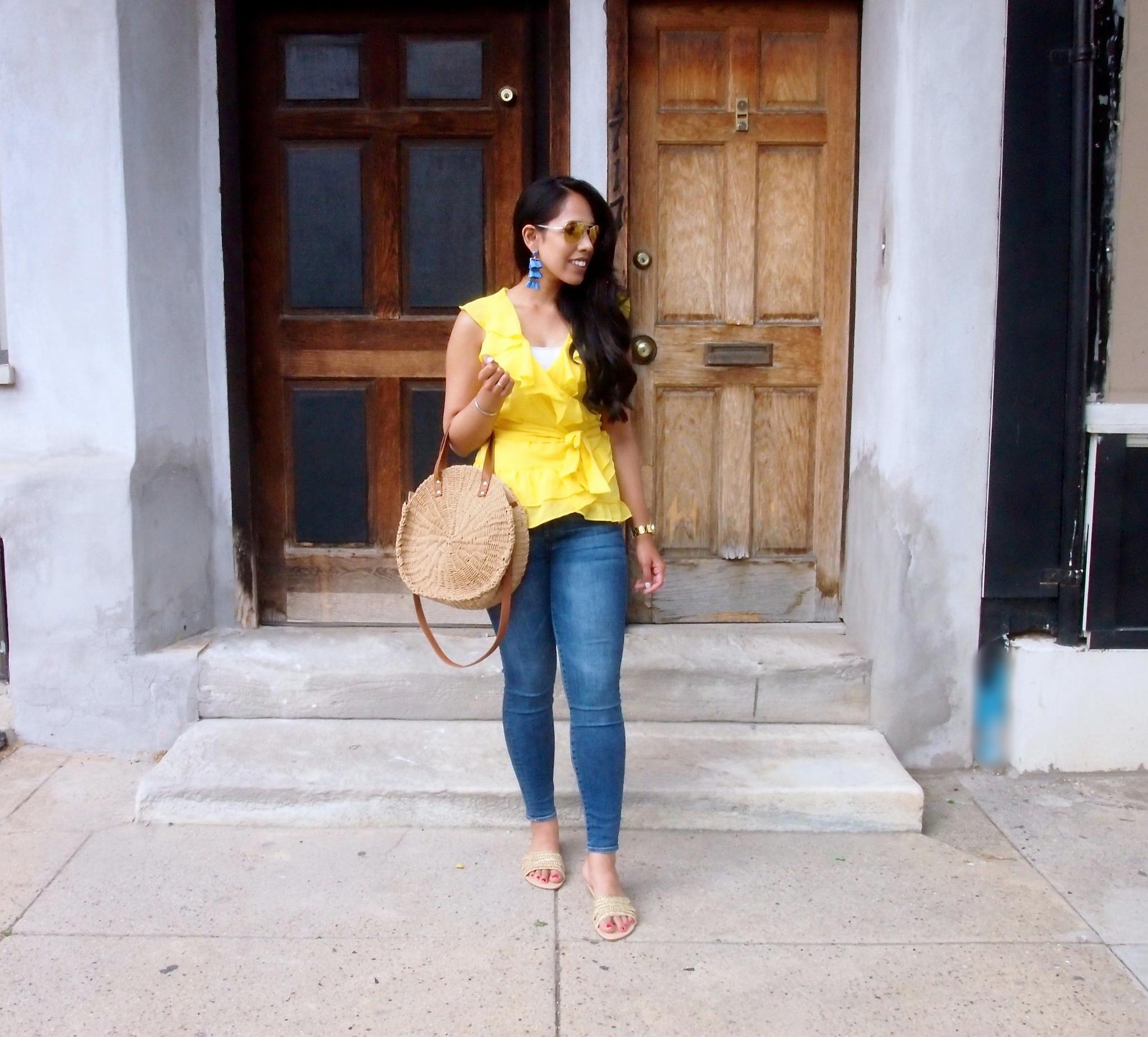 JustFab-Yarannah-Slide-Sandal-Gold-fashion-blogger.JPG
