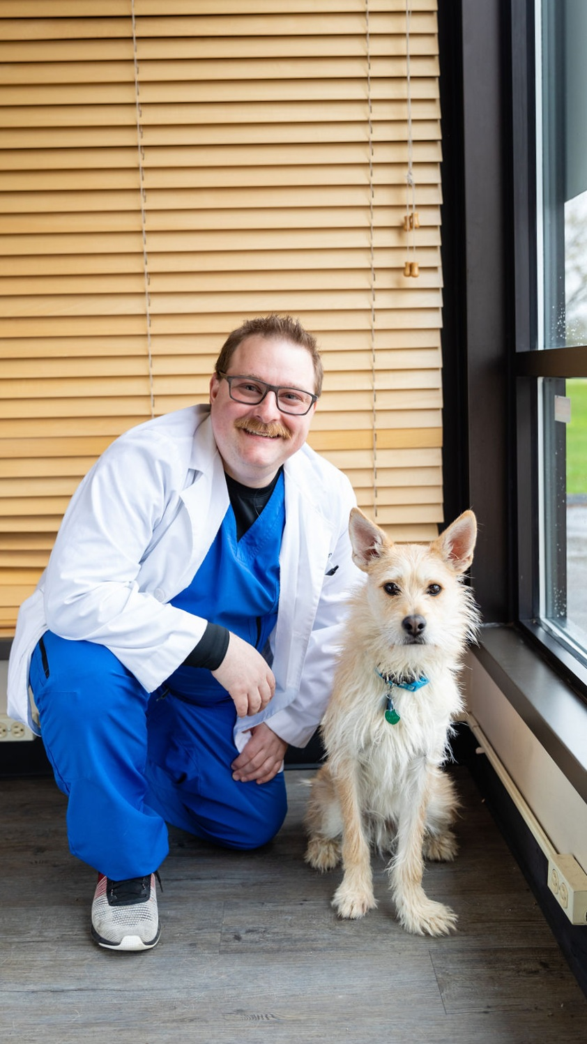 Dr. Scott F. Schwartz & Felix - Dr. Schwartz followed in his father's footsteps and graduated from the Southern California College of Optometry, Magna Cum Laude. He performed internships at the Southern Arizona Veterans Administration in Sierra Vista Arizona, Cedars-Sinai Medical Group in Beverly Hills California, and with the Indian Health Service at Hu Hu Kam Memorial Hospital in Sacatan Arizona.These internships concentrated in the diagnosis and treatment of ocular disease, including diabetic retinopathy, macular degeneration, and glaucoma. He also worked heavily in contact lens fitting, including specialty fits for orthokeratology, kerataconus and pelucid marginal degeneration.Felix is the friendliest member of our team and is great with patients of all ages. He loves belly rubs and all the attention he gets at workSchedule Now with Dr. Scott