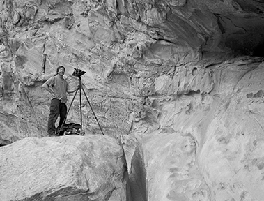 Michael photographing in the canyons