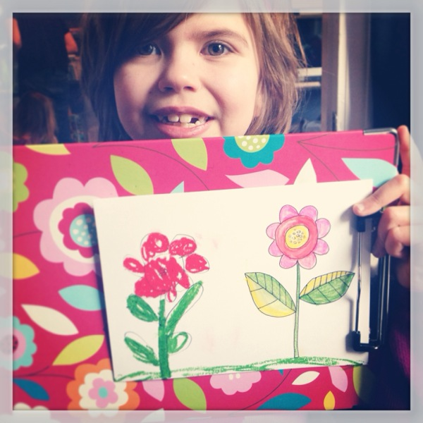 My flower next to her copy.