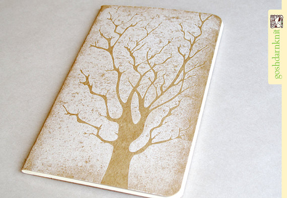 I love how the tree image works with the craft paper cover. If I got this sketchbook I would probably embellish it with ink drawing.