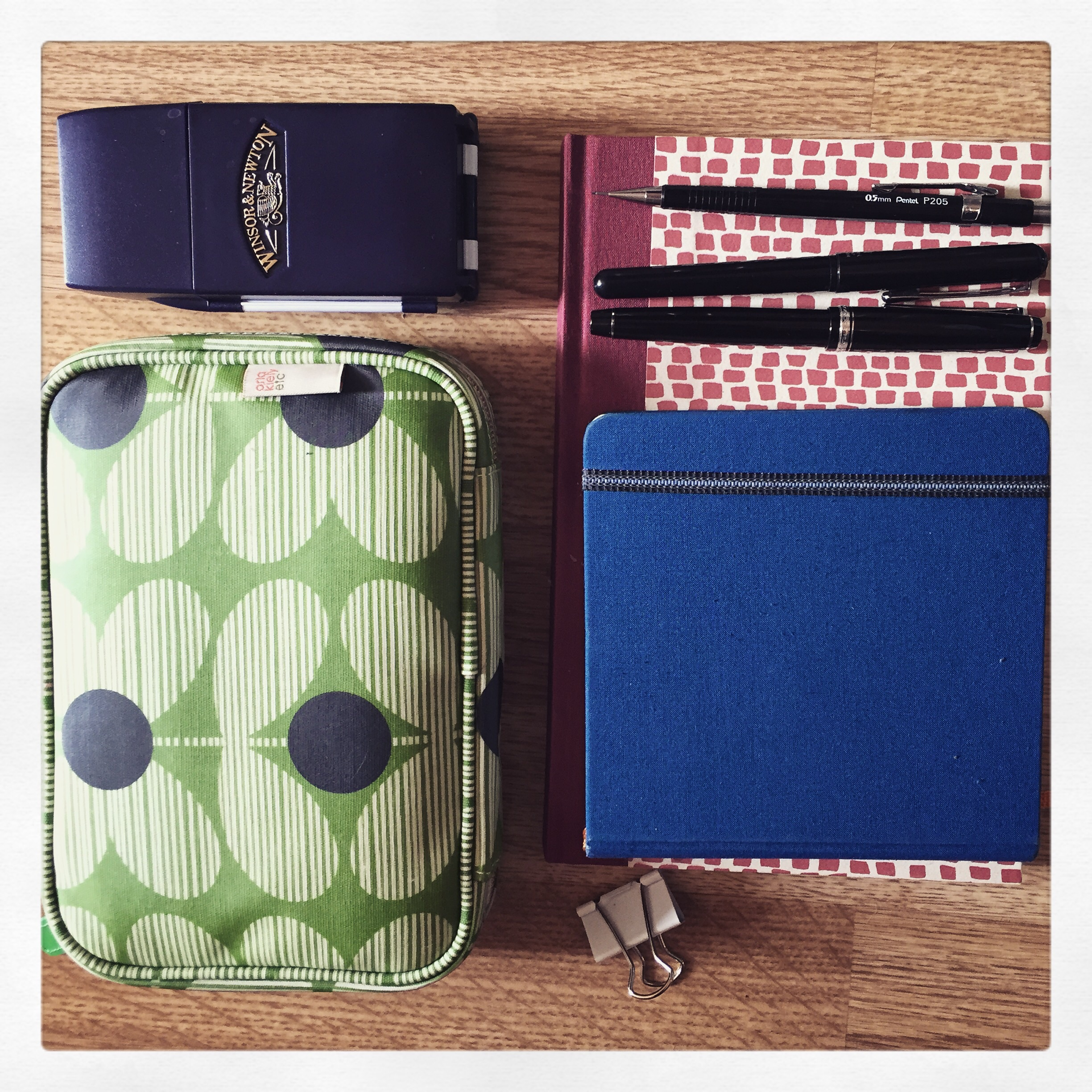 My maxed out sketching kit ready for Paris!