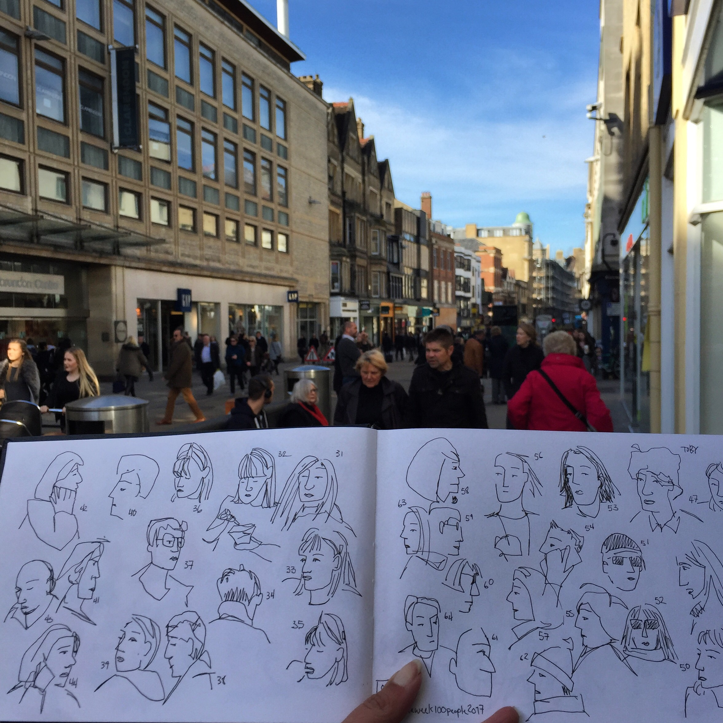 Fast and loose sketching tourists.