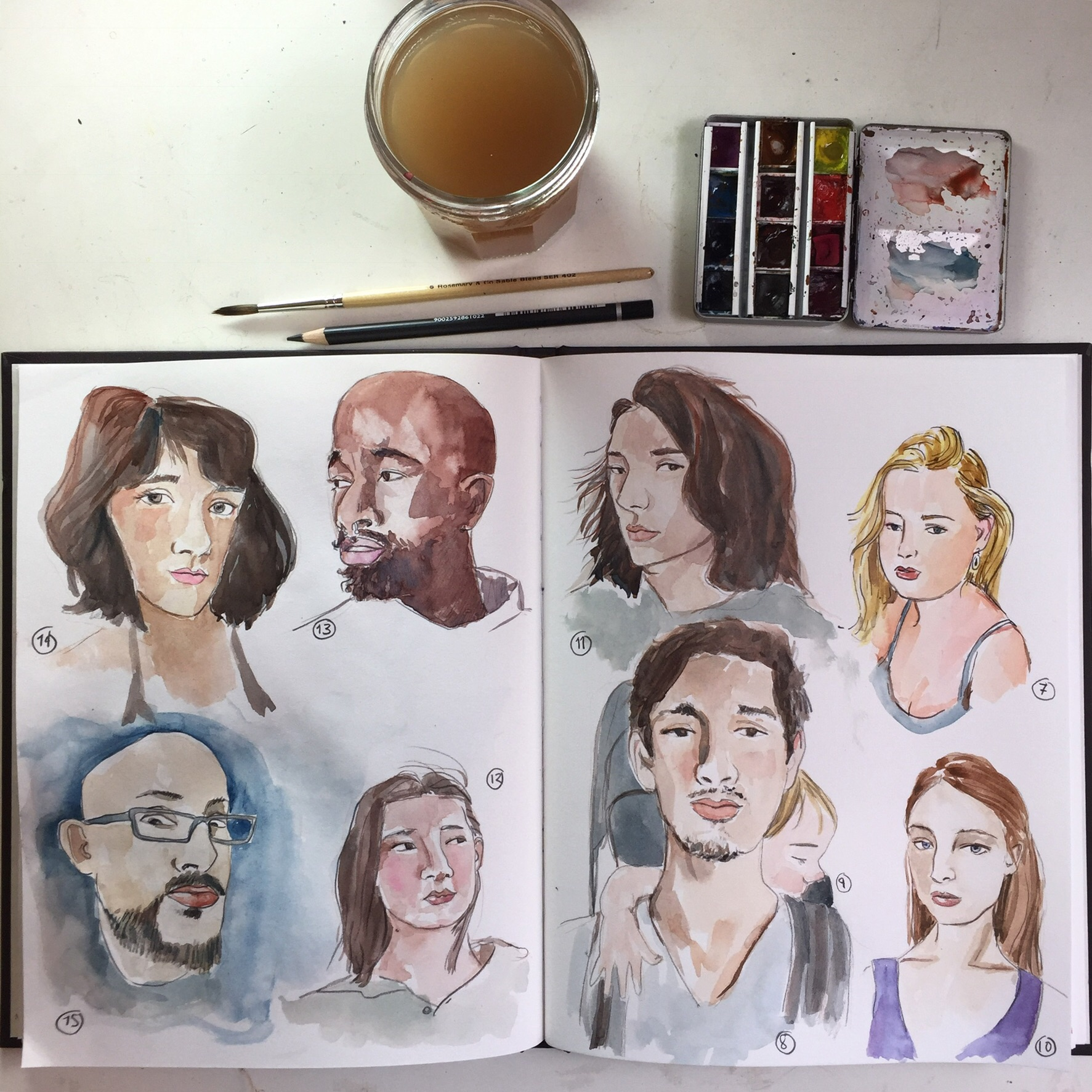 First #sktchyapp portraits were way too slow