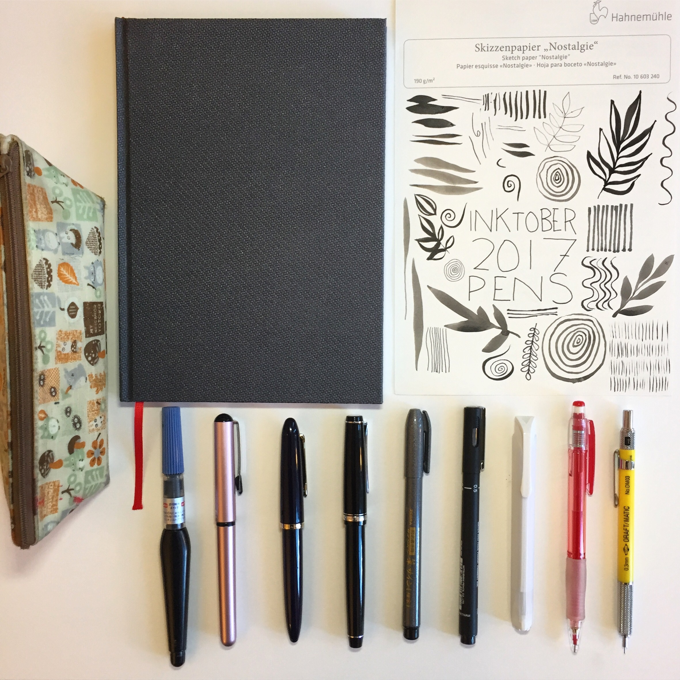 My tools for Inktober 2017