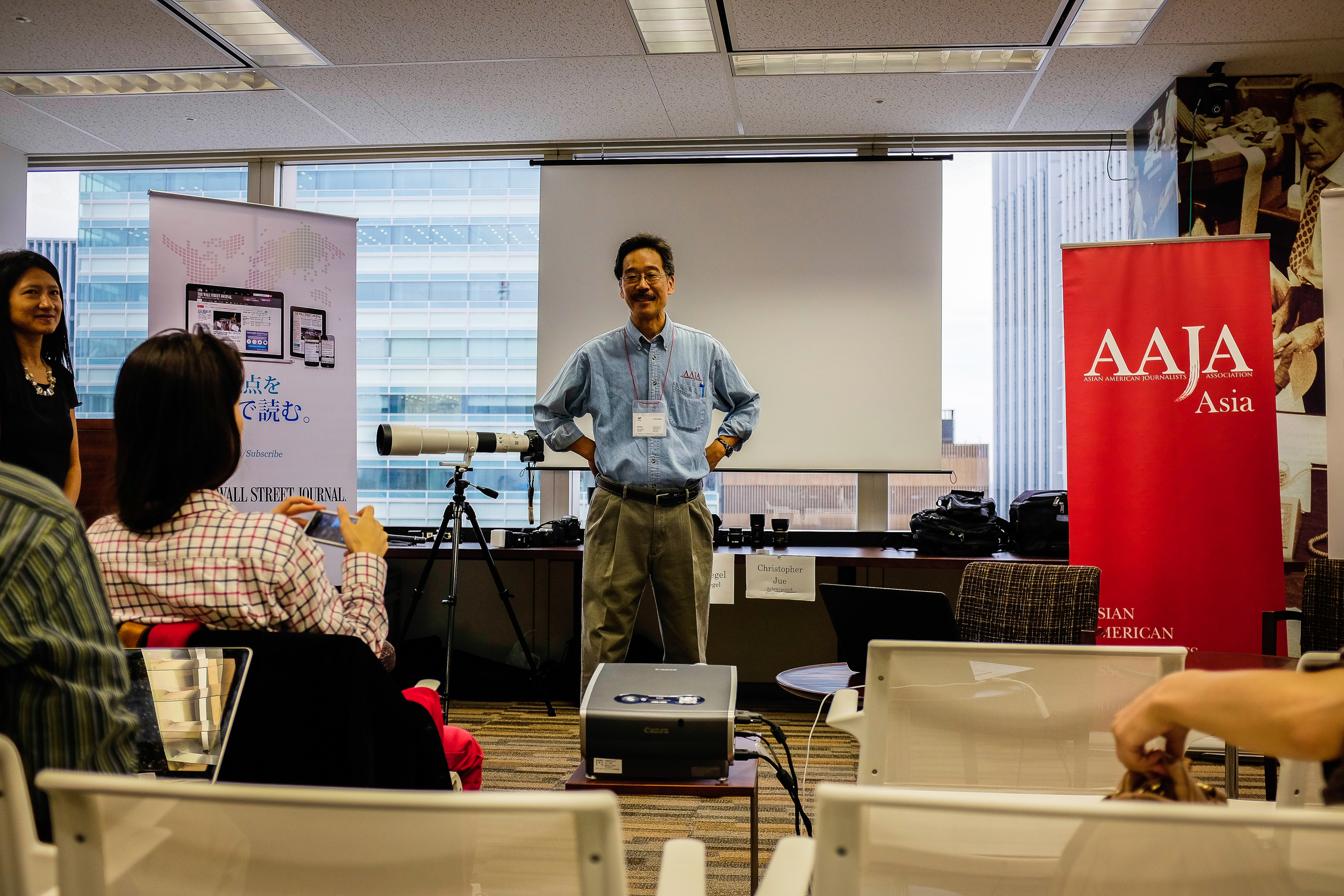 AAJA National VP for Print  Ken   Moritsugu  (AP Tokyo Bureau Chief) kicked the event off with a warm welcoming speech.