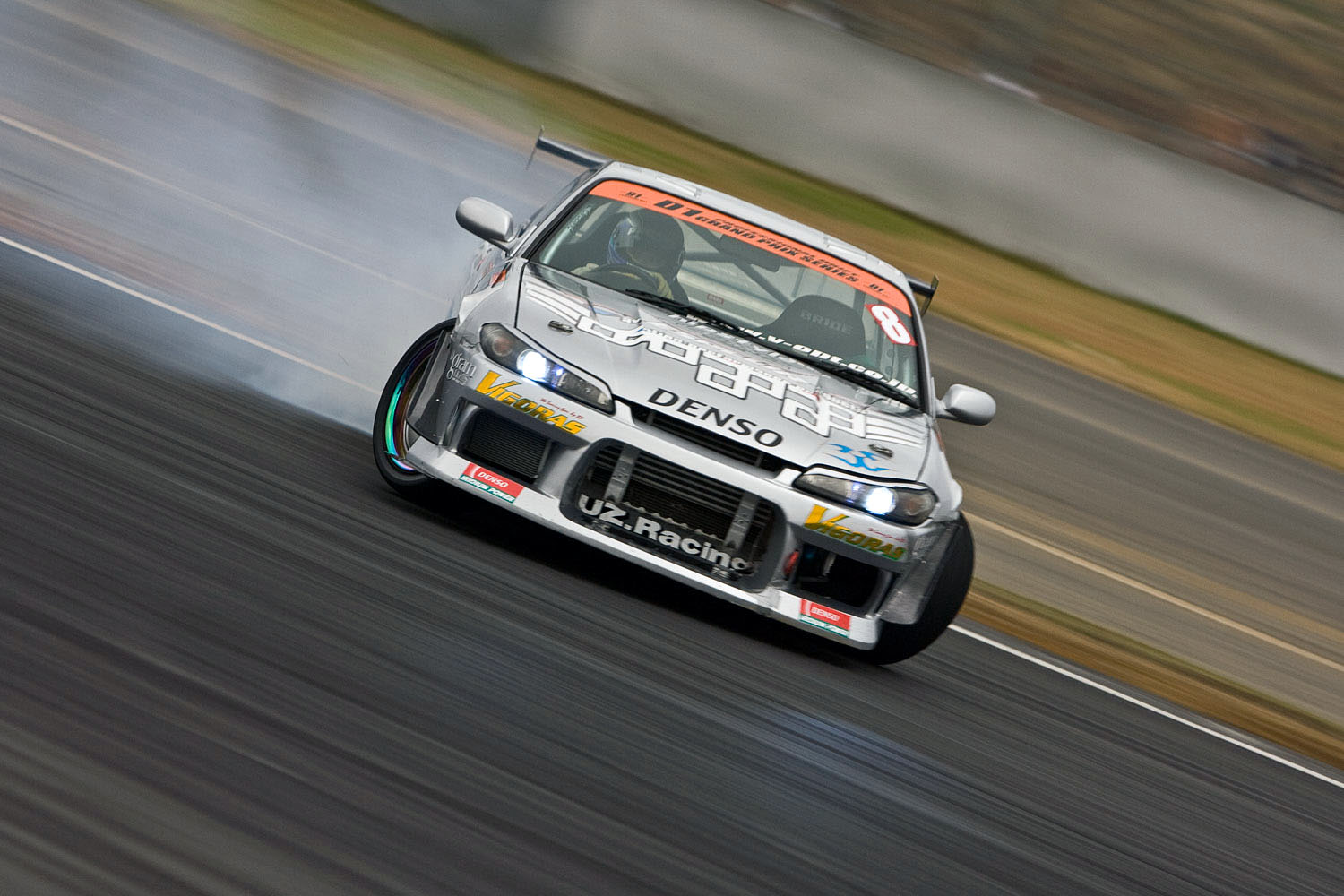 S14 during D1GP at Fuji Speedway in Shizuoka Prefecture, Japan.
