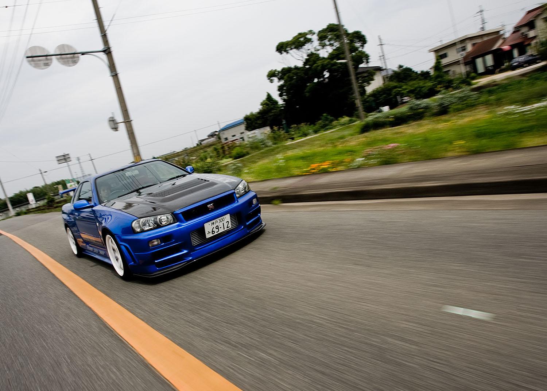 Endless Kobe R34 GT-R in Kobe, Japan.