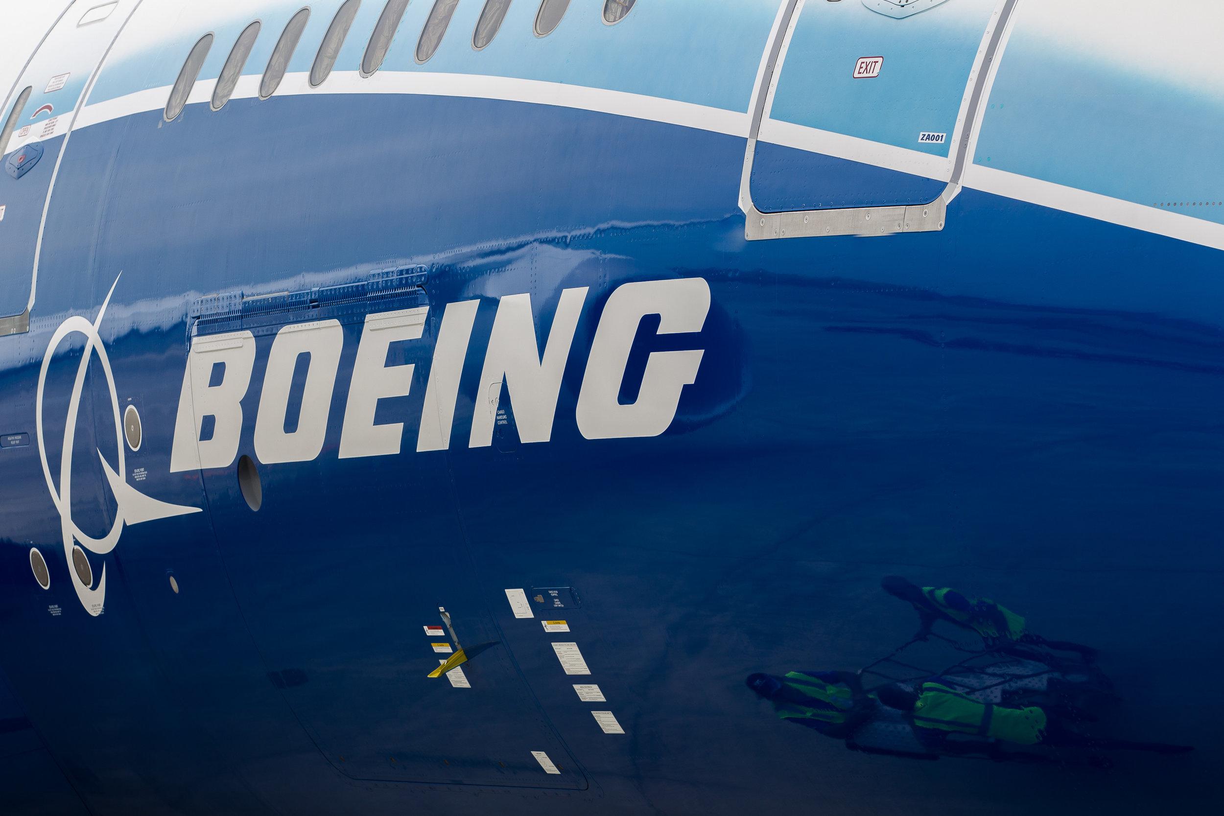 787 Dreamliner shot for Boeing