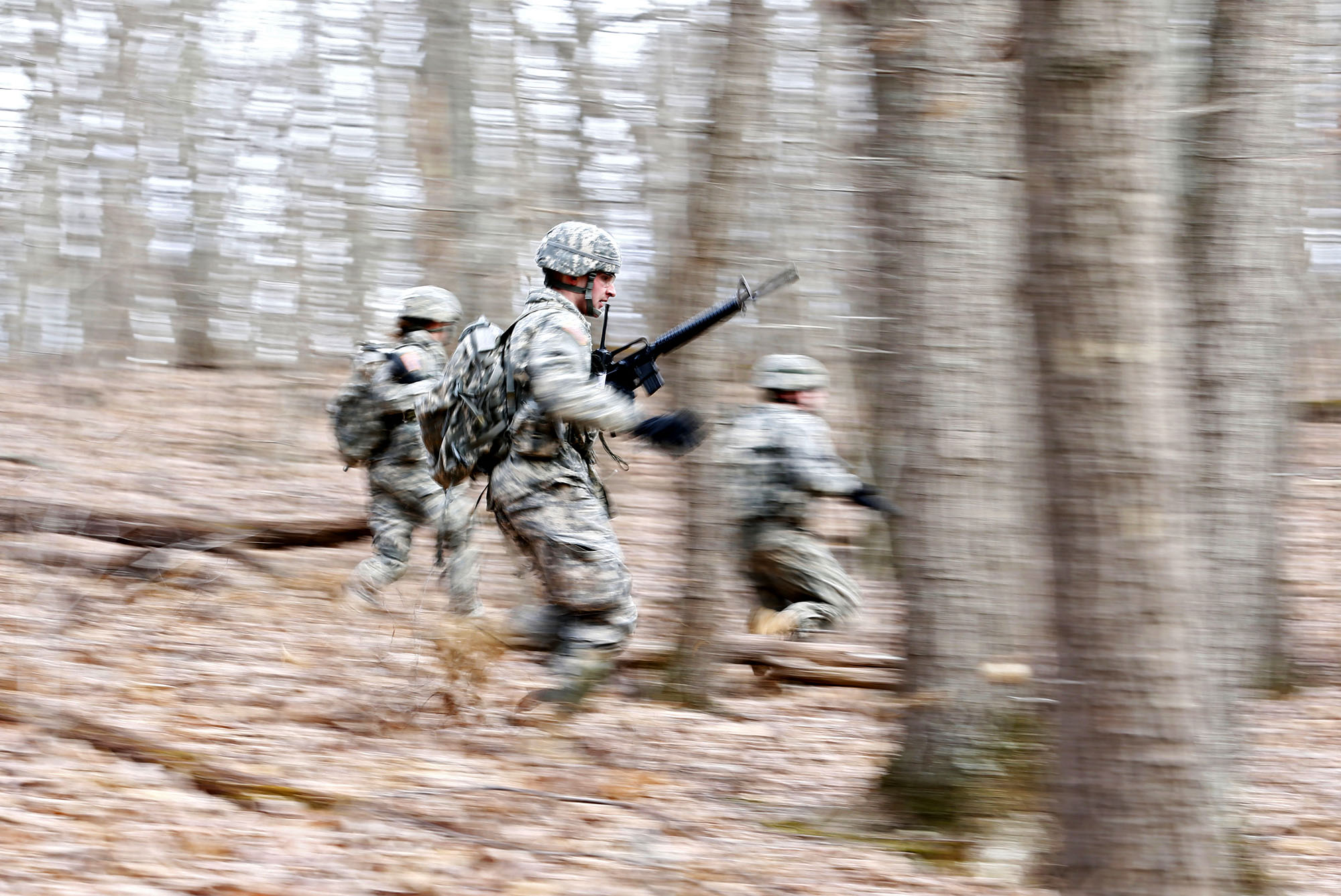 Army ROTC cadets drill at the University of Virginia. The program has been designated as the recipient of the annual MacArthur Award for the 4th ROTC BDE.