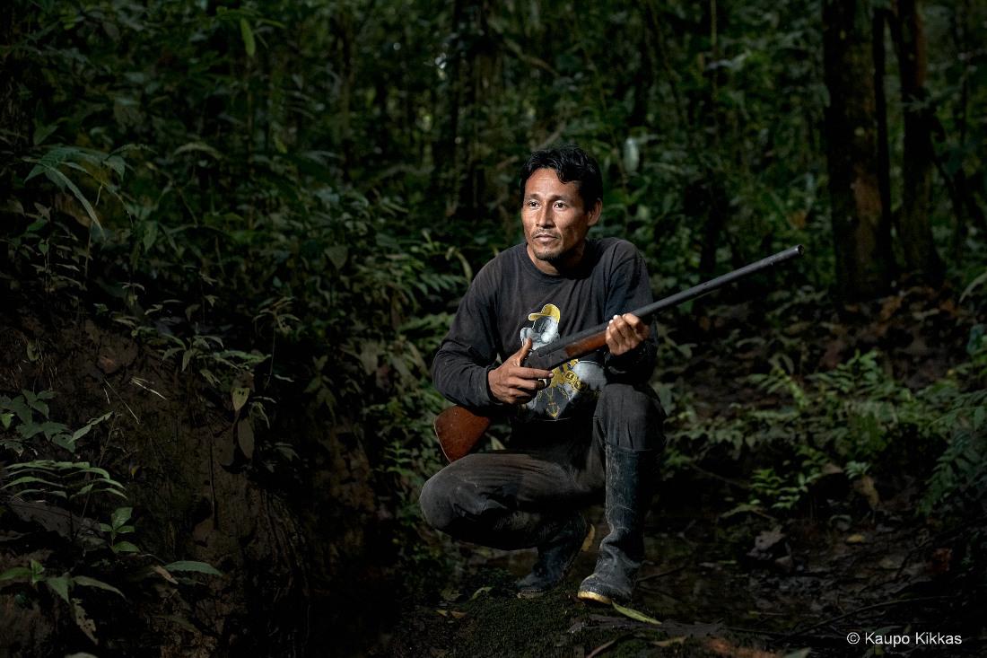 Hunter Jonny. Amazon rainforest, river Momon
