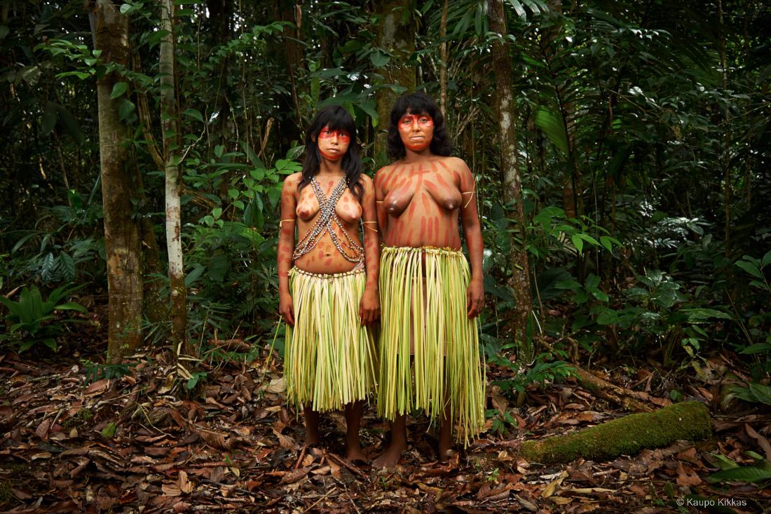 Matsés mother and daughter. Amazon,