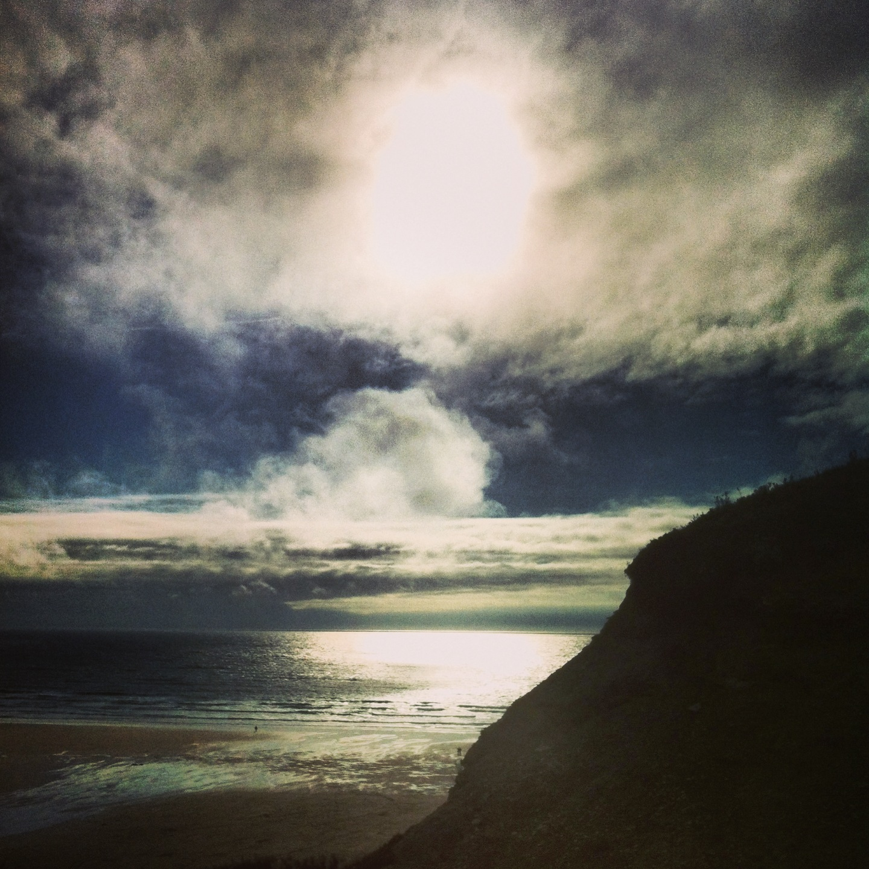 Sunset watergate bay
