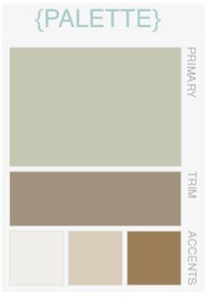 Colour palette for the new interior living, dining room and kitchen.