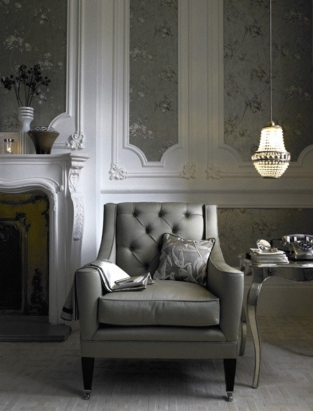 Accent chair as a feature in the living area.