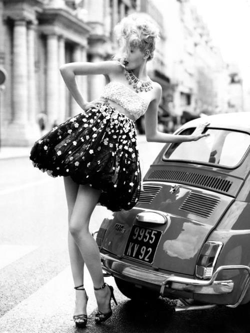 Vintage Fiat 500 Chic