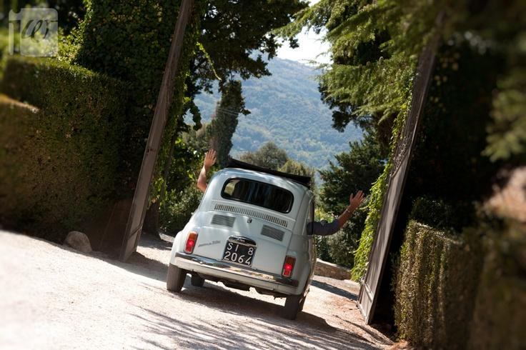 Rear Vintage Fiat 500