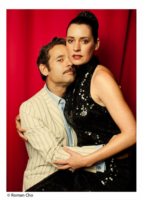 Paul F. Tompkins and Paget Brewster as Frank and Sadie Doyle.