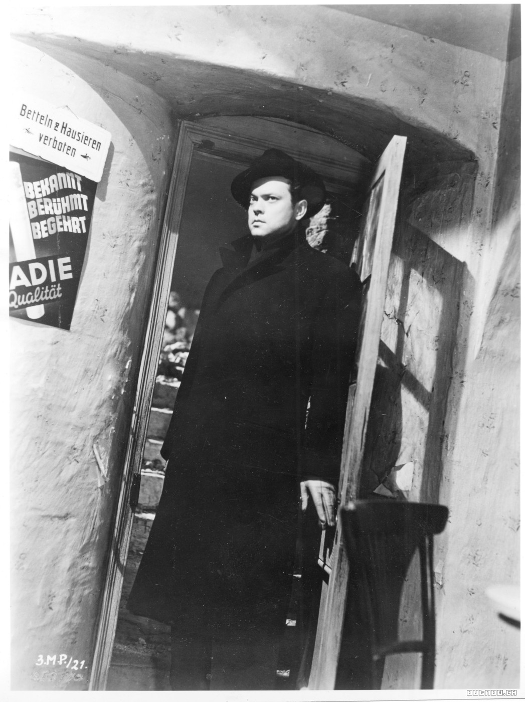 Orson Welles as Harry Lime in Carol Reed's The Third Man, 194