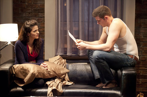 Rachel Zampelli & Thomas Keegan in Signature's  Dying City  (Scott Suchman)