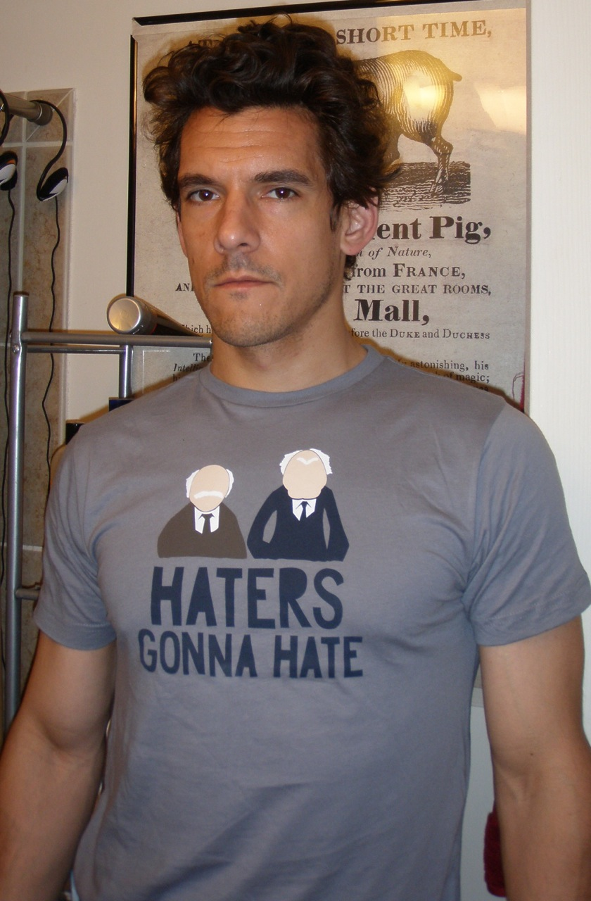 Self-portrait with haters.