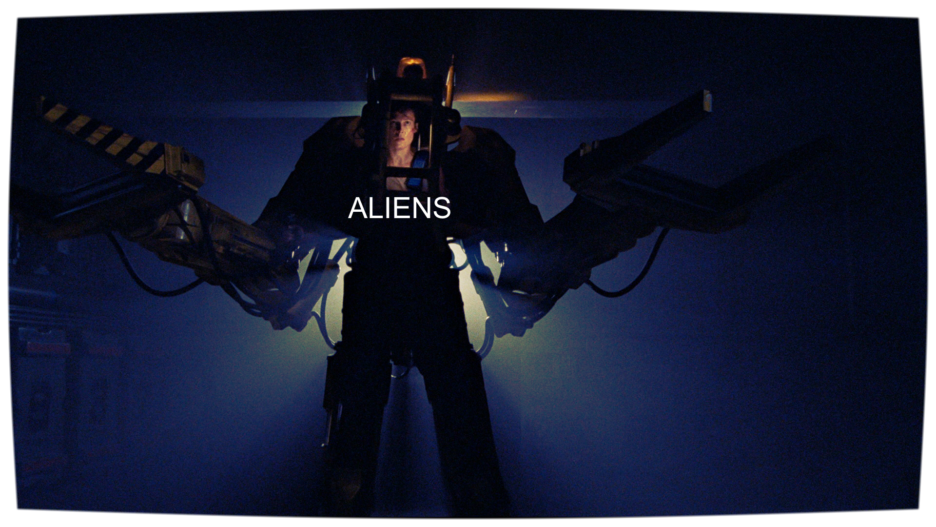 Ripley (Sigourney Weaver) suits up to fight the Queen Mother in James Cameron's  Aliens  (1986).