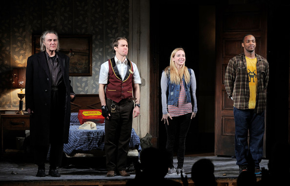 The Broadway cast of  A Behanding in Spokane  in 2010: Christopher Walken, Sam Rockwell, Zoe Kazan, Anthony Mackie.